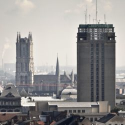 Pleisterwerken en droge afwerking Gentse Boekentoren